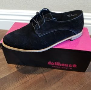 Black Lace up Oxfords by Dollhouse